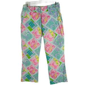 Lilly Pulitzer Surf n Patch Capri Cotton Pants